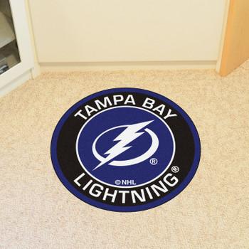 """27"""" Tampa Bay Lightning Roundel Blue Round Mat"""