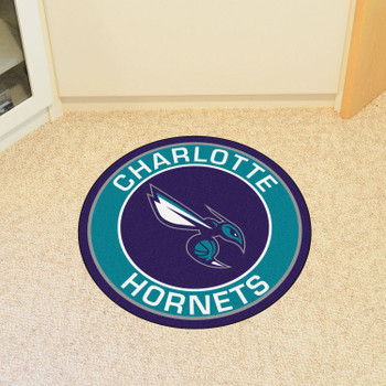 "27"" Charlotte Hornets Roundel Purple Round Mat"