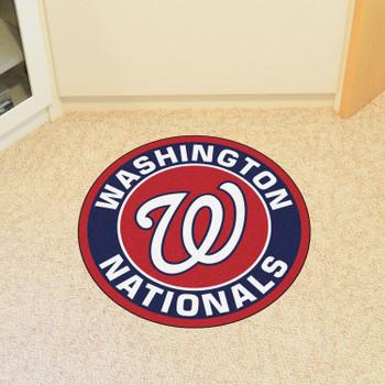 "27"" Washington Nationals Roundel Red Round Mat"