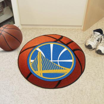 """27"""" Golden State Warriors Round Basketball Mat"""