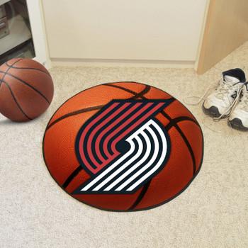"27"" Portland Trail Blazers Round Basketball Mat"