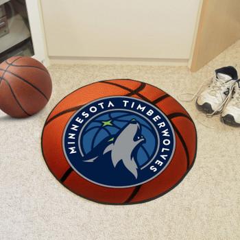 "27"" Minnesota Timberwolves Round Basketball Mat"
