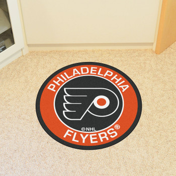 "27"" Philadelphia Flyers Roundel Black Round Mat"