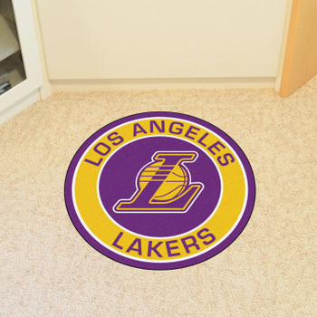 "27"" Los Angeles Lakers Roundel Purple Round Mat"