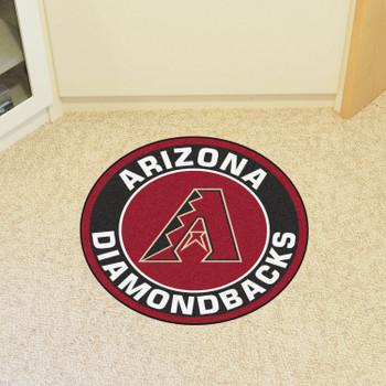 "27"" Arizona Diamondbacks Roundel Black Round Mat"