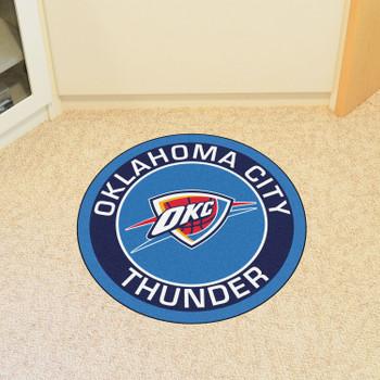 "27"" Oklahoma City Thunder Roundel Blue Round Mat"