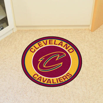 """27"""" Cleveland Cavaliers Roundel Maroon Round Mat"""