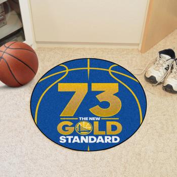 """27"""" Golden State Warriors 73 Wins Round Basketball Mat"""