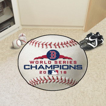 "27"" Boston Red Sox 2018 World Series Champions Round Baseball Mat"