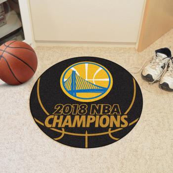"""27"""" Golden State Warriors 2018 NBA Finals Champions Round Basketball Mat"""