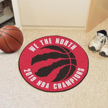 "27"" Toronto Raptors 2019 NBA Finals Champions Round Basketball Mat"