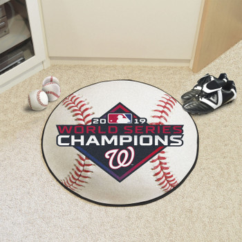 "27"" Washington Nationals 2019 World Series Champions Round Baseball Mat"
