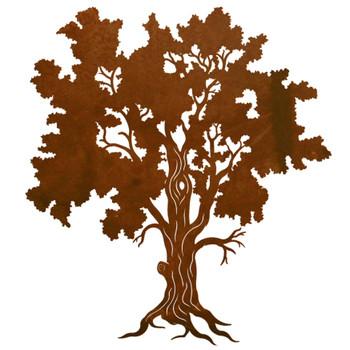 """30"""" Detailed Oak Tree Metal Wall Art"""