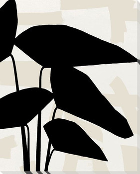 Botanical Silhouette 1 Wrapped Canvas Giclee Art Print Wall Art