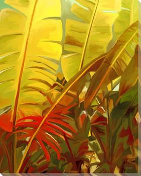 Tropical Sun Wrapped Canvas Giclee Art Print Wall Art