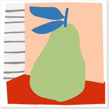 Pear Mixed Fruit 2 Wrapped Canvas Giclee Art Print Wall Art