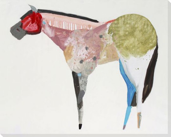 Horse No 67 Wrapped Canvas Giclee Art Print Wall Art