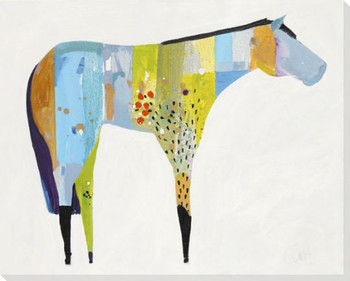 Horse No 27 Wrapped Canvas Giclee Art Print Wall Art