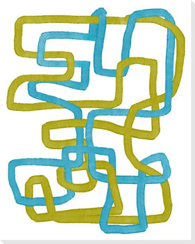 Twisting Pathways 1 Wrapped Canvas Giclee Art Print Wall Art