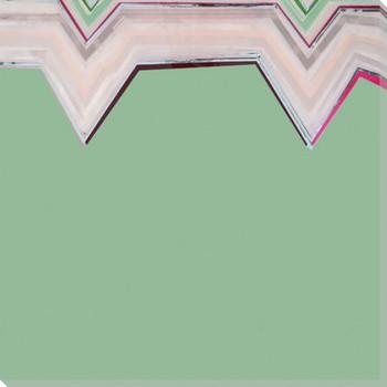 Aqua Zig Zag 3 Wrapped Canvas Giclee Art Print Wall Art