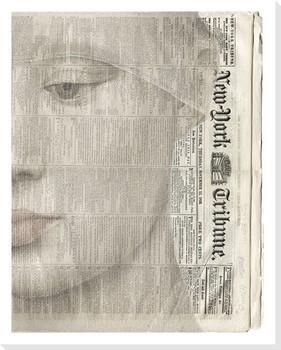 Closeup Girl Wrapped Canvas Giclee Art Print Wall Art