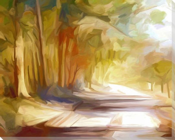 A Country Lane Wrapped Canvas Giclee Art Print Wall Art