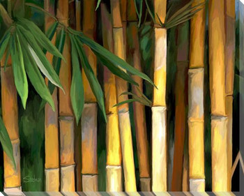 Bamboo Wrapped Canvas Giclee Art Print Wall Art