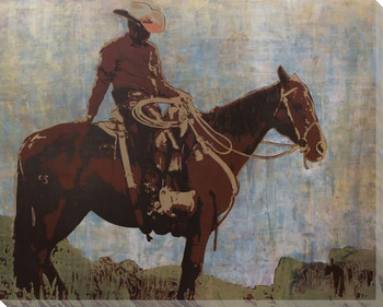 Western Moment Wrapped Canvas Giclee Art Print Wall Art