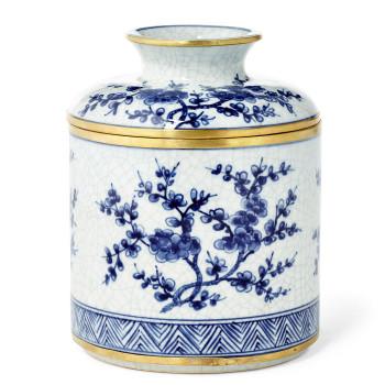 Blue and White Blossom Porcelain Tissue Box Cover