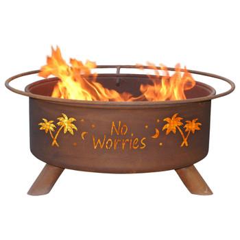 No Worries Metal Fire Pit