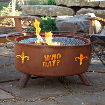 Who Dat Metal Fire Pit