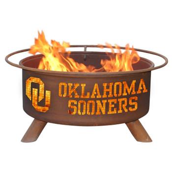 University of Oklahoma Sooners Metal Fire Pit