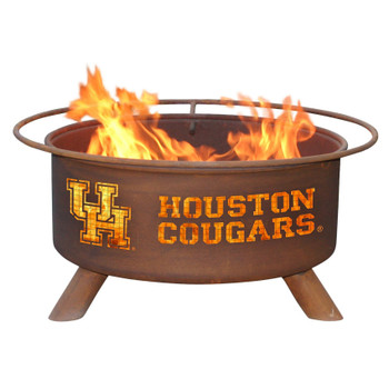 University of Houston Cougars Metal Fire Pit