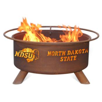 North Dakota State University Bison Metal Fire Pit