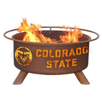 Colorado State University Rams Metal Fire Pit