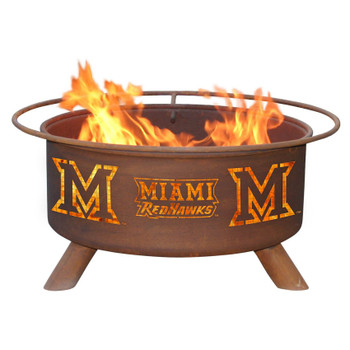 Miami University (OH) RedHawks Metal Fire Pit