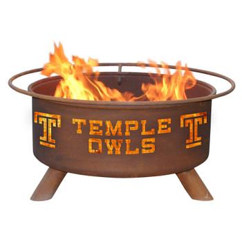 Temple University Owls Metal Fire Pit
