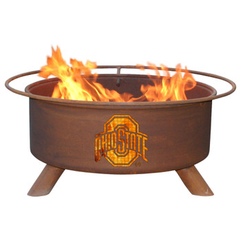 Ohio State University Buckeyes Metal Fire Pit