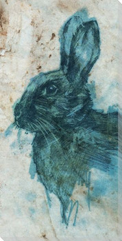 Stone Litho Rabbit Wrapped Canvas Giclee Print Wall Art
