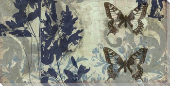Butterfly Reverie II Wrapped Canvas Giclee Print Wall Art