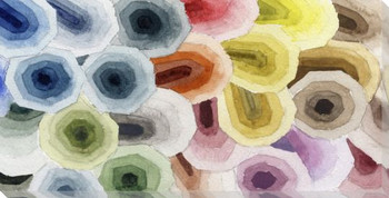 Color Swatch Wrapped Canvas Giclee Print Wall Art