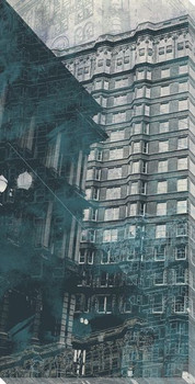 Urban Montage 1st Avenue Cityscape Wrapped Canvas Giclee Print