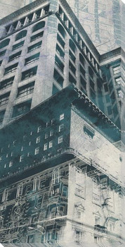 Urban Montage 2nd Avenue Cityscape Wrapped Canvas Giclee Print
