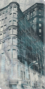 Urban Montage 4th Avenue Cityscape Wrapped Canvas Giclee Print