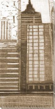 Concrete Jungle Cityscape I Wrapped Canvas Giclee Print Wall Art