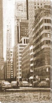 Concrete Jungle Cityscape III Wrapped Canvas Giclee Print Wall Art