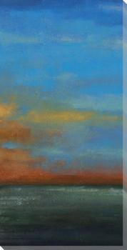 Blue Sky III Wrapped Canvas Giclee Print Wall Art
