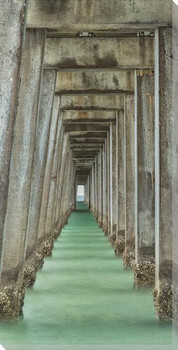 Naples Pier Wrapped Canvas Giclee Art Print Wall Art