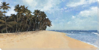Walk on the Beach Wrapped Canvas Giclee Print Wall Art