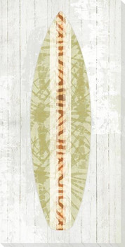 Neutral Surfboard Wrapped Canvas Giclee Print Wall Art